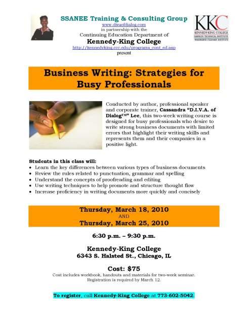 Business Writing Seminar - Cassandra Lee