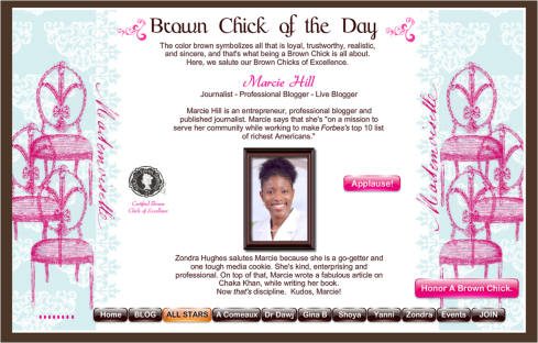 Brown Chick of the Day: Marcie Hill