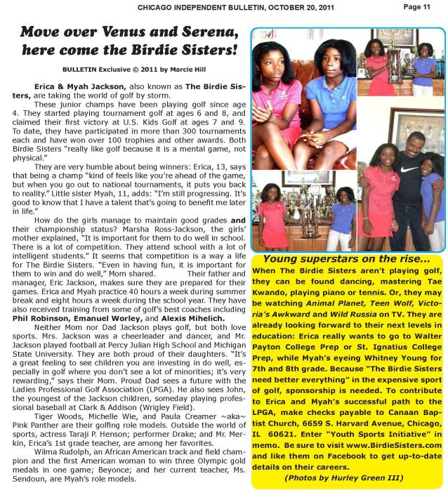 The Birdie Sisters - independent Bulletin Newspaper