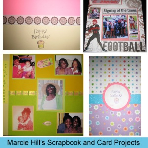 Marcie Hill's Scrapbook and Card Projects